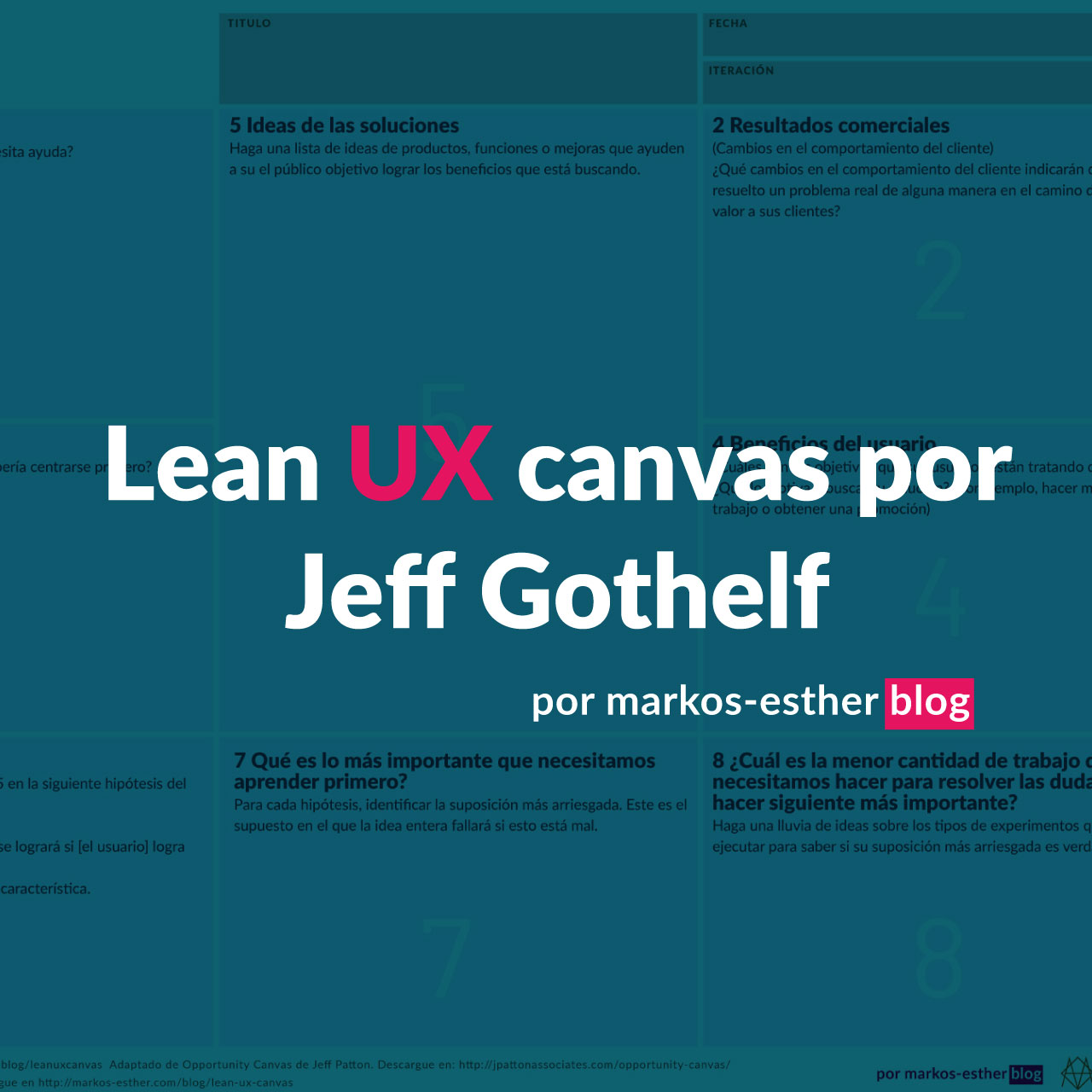 Lean UX canvas por Jeff Gothelf